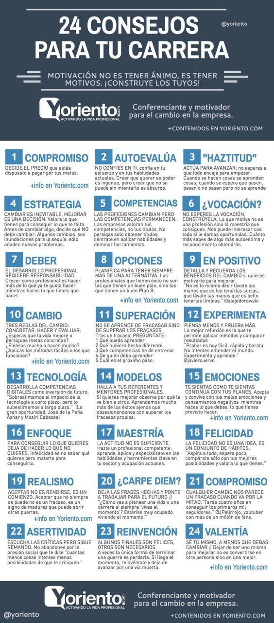 24 claves para mejorar tu carrera profesional #infografia