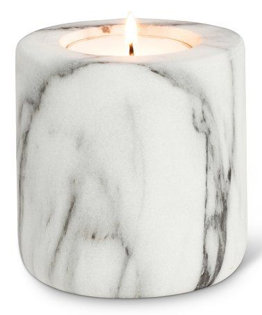 4'' White Marble Candle Holder