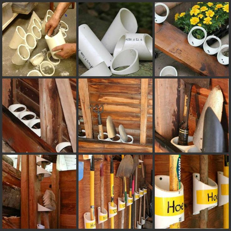 Storage solutions for small garden tools using PVC