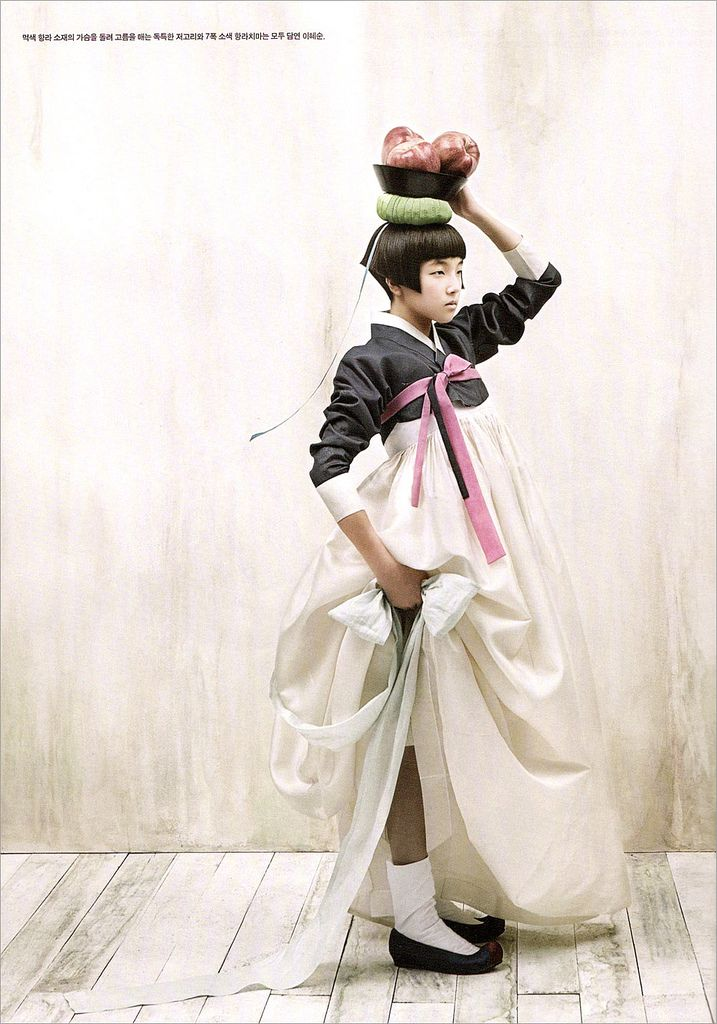 Vogue Korea hanbok, designer: Lee Younghee, photograher: Kim KyungSoo, Oct 2007