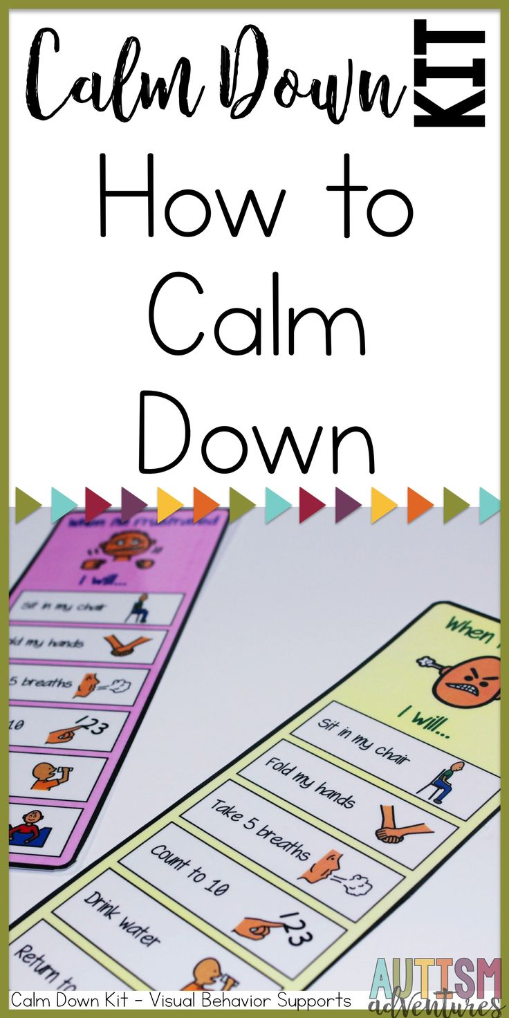 Behavior management Calm Down Kit for special education classroom management. How to calm down visuals