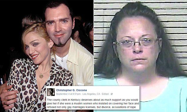 Madonna's gay brother Christopher Ciccone defends Kentucky clerk Kim Davis | Daily Mail Online