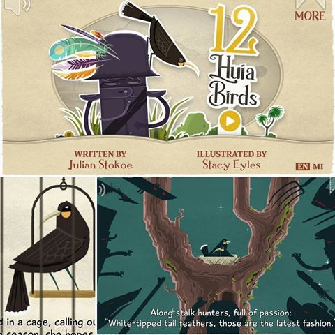 Wow! Blown away by this amazing NZ picture book and app. 12 Huia Birds by Julian Stokoe is a must for every Kiwi kid! Plus, there's an incredible supporting free app available in Maori and English on Google Play and the Apple app store. Such a bittersweet story about NZ history. #notsponsored #justloveit #huia #maori #newzealand #aotearoa #tereo #picturebook #12huiabirds #book #bookworm #bookstagram