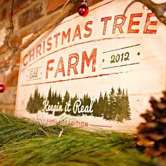 Christmas Tree Farm Sign  Wood Holiday Sign  Rustic by RightGrain