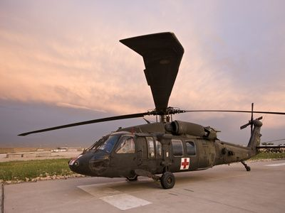A UH-60L Black Hawk Medevac Helicopter