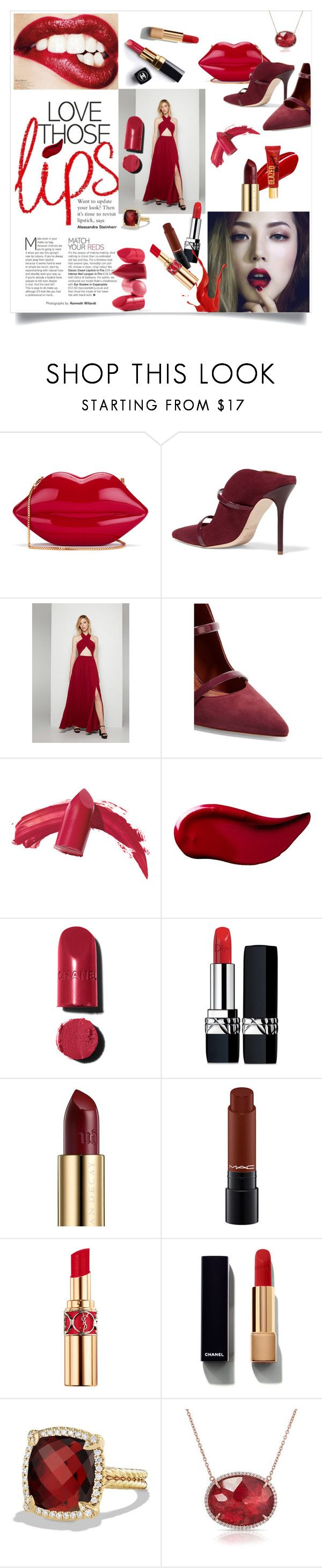 """""""Red Passion"""" by metropulse ❤ liked on Polyvore featuring Lulu Guinness, Malone Souliers, Fame & Partners, Rossetto, Chanel, Elizabeth Arden, Kat Von D, Christian Dior, Urban Decay and Yves Saint Laurent"""