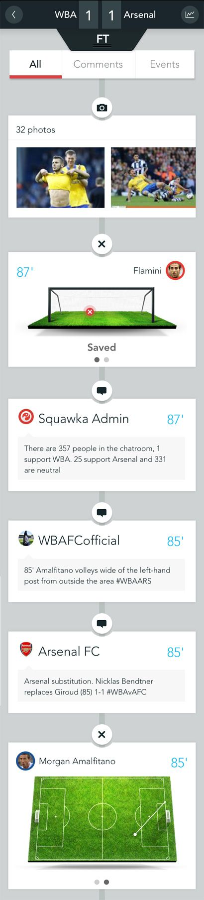 The Squawka Football app, nice design and love the web page to demo the app