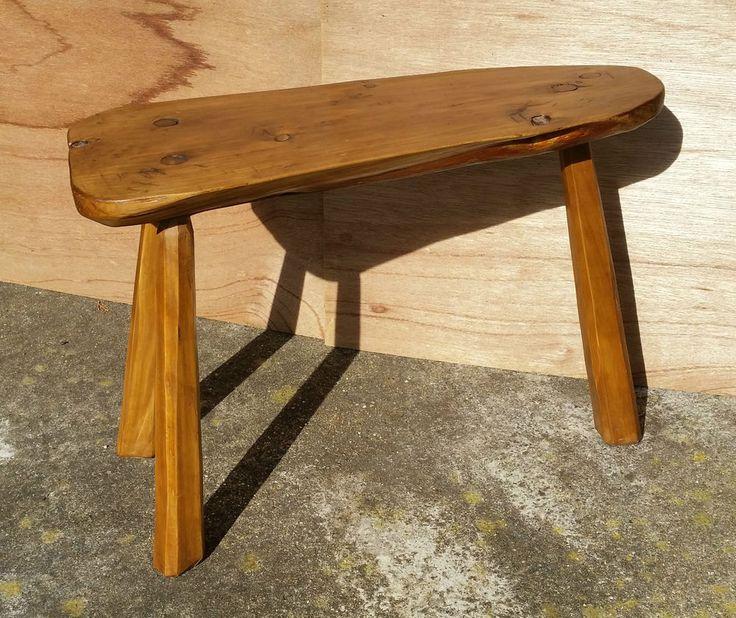 Handmade Rustic 3 Legged Stool / Plant Stand