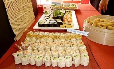 Food for Japanese party... do rolled tortilla sandwiches to look like sushi rolls! Cute appetizer!