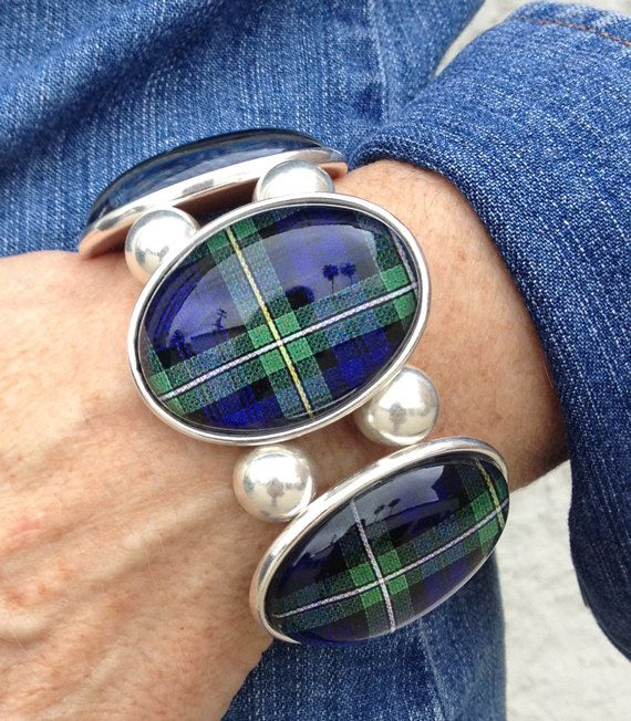 Campbell Tartan FiveCameo Stretch Bracelet by joolzhayworth, $56.00