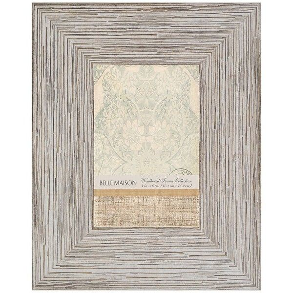 Belle Maison 4\'\' x 6\'\' Distressed Frame ($7.99) ❤ liked on Polyvore ...