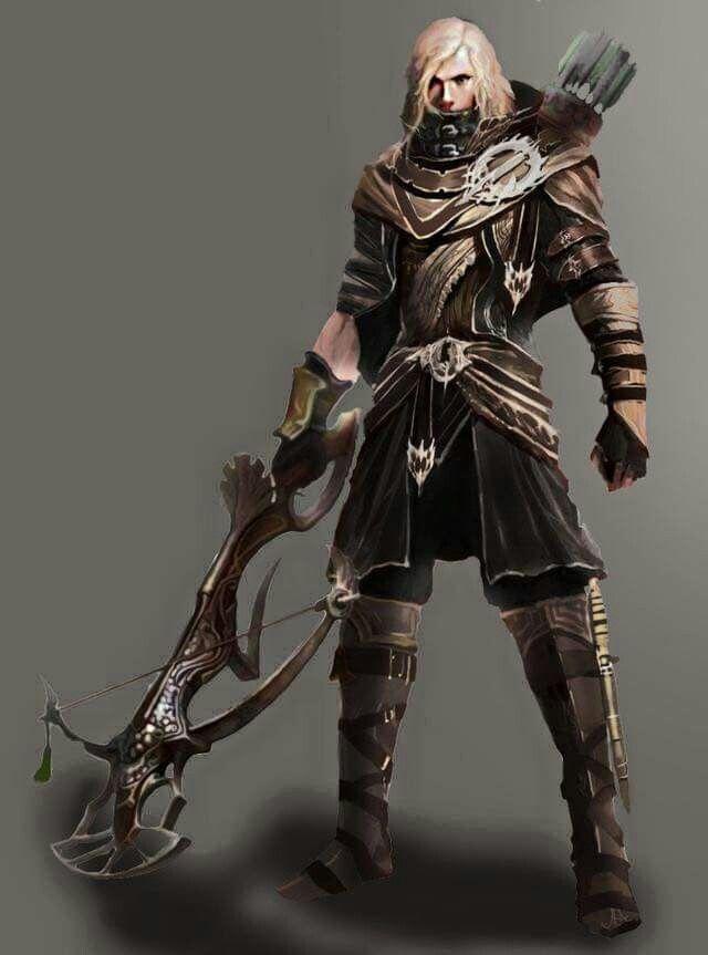 "m Half Elf Cleric 6'10"" tall Med Armor Crossbow   Concept ..."