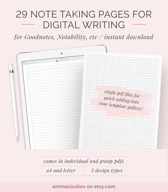Digital Note Taking Paper Templates By Emmastudies Improve Any Notetaking With These 29 Different Designs For Digital Ipad Ipad Mini Afiches Del Medio Ambiente