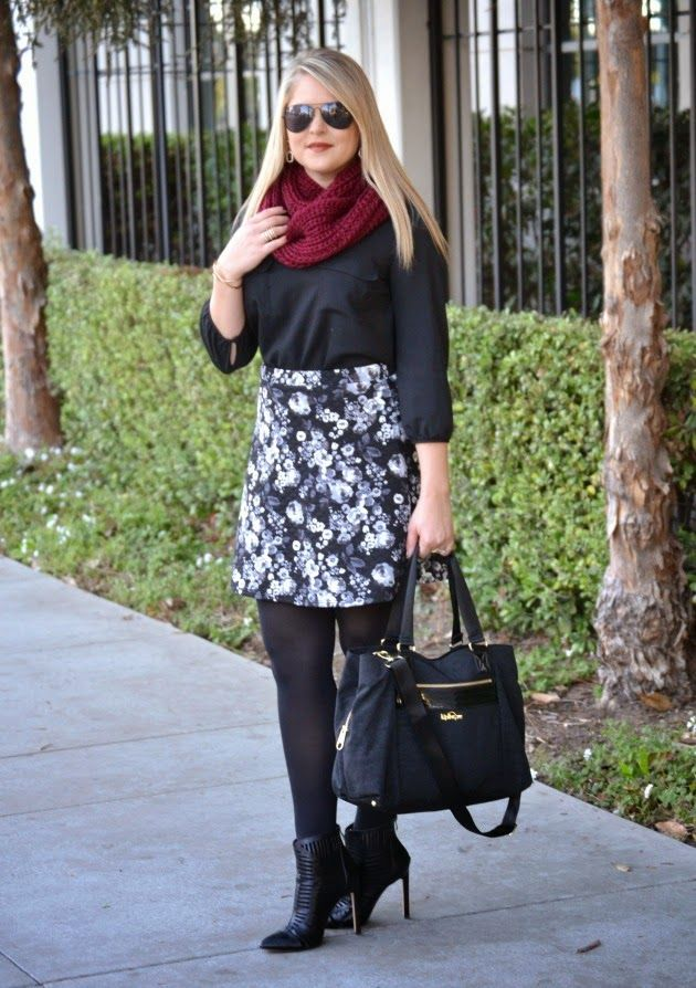 A perfect winter outfit for the office! #fabfound black blouse from @marshalls (via @dmcheever)