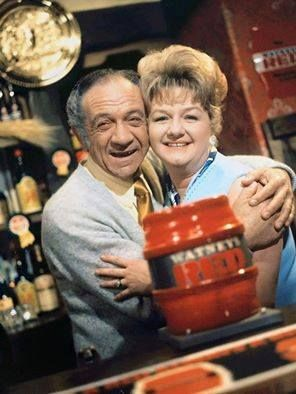 Lovely pic of Joan Sims and Sid James from Carry On Abroad 1972