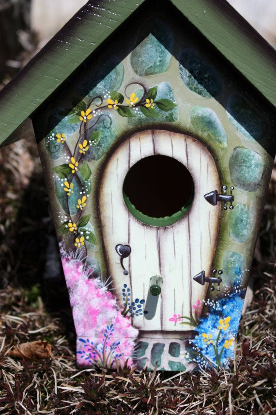 136 Best Images About Hand Painted Bird Houses On Pinterest
