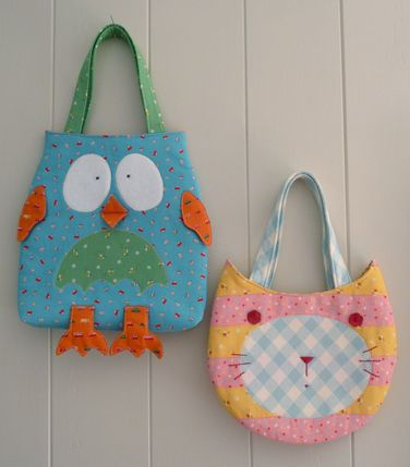 Bolso búho  gatito. Owl bags