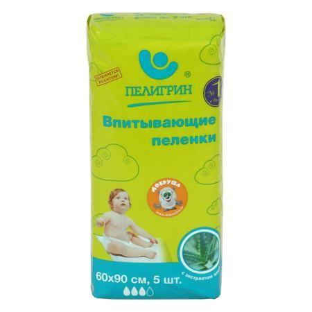 Пелигрин ПЕЛИГРИН, Пеленки впитывающие с алоэ  — 187р. --------- Впитывающие детские пеленки Пелигрин для защиты кожи малыша и поверхности кроватки.    Классические пеленки «Пелигрин» - это всегда удобно:      пеленка хорошо пропускает влагу, оставляя кожу малыша сухой;     имеет повышенную впитываемость, что позволяет использовать меньшее количество пеленок;     надежно предотвращает протекание, защищая кроватки, матрасы, коляски и пеленальные столики. Всем известны полезные свойства…