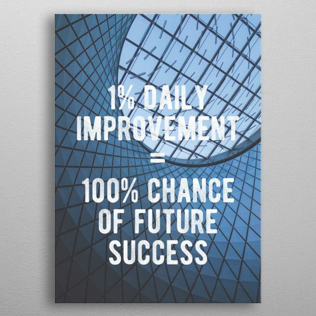 Improve Every Day Text Art Poster Print Metal Posters Text Art Poster Prints Posters Art Prints