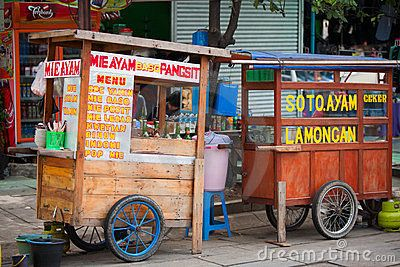 Indonesian Food Stalls - Always fun eating on the street!