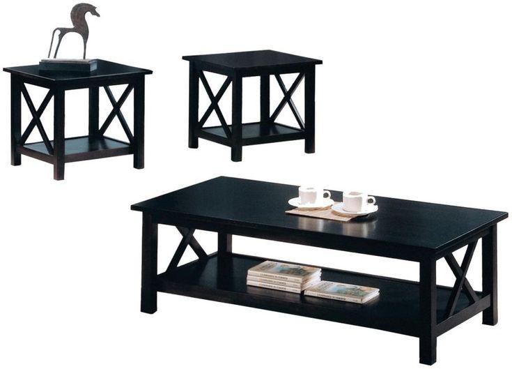 Black Living Room Table Sets. Black Living Room Table Set Black ...