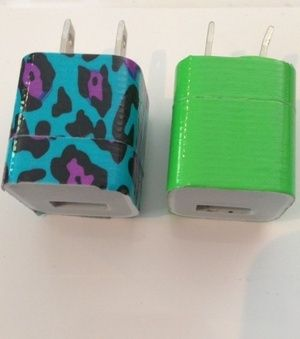 Cover chargers with duct tape to identify it