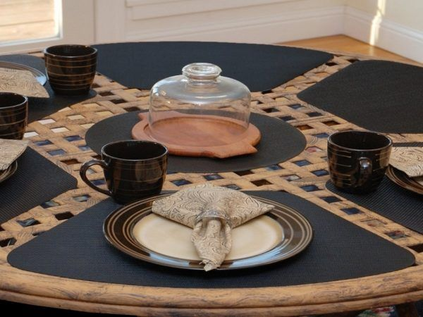 25 Placemats For Round Table Home Decor And Garden Ideas Placemats For Round Table Placemats Dining Table Placemats