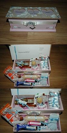 Zobacz zdjęcie Wedding box!  Na zdrowie - żubrówka Na szczęście - kupon lotto Na osłodę życi...