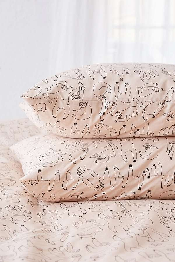 Sloth Print Duvet Cover Set   Urban Outfitters   Home   Bedding   Duvet Covers & Pillow Cases