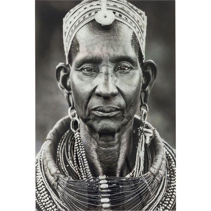 Πίνακας Glass Kenyan Woman