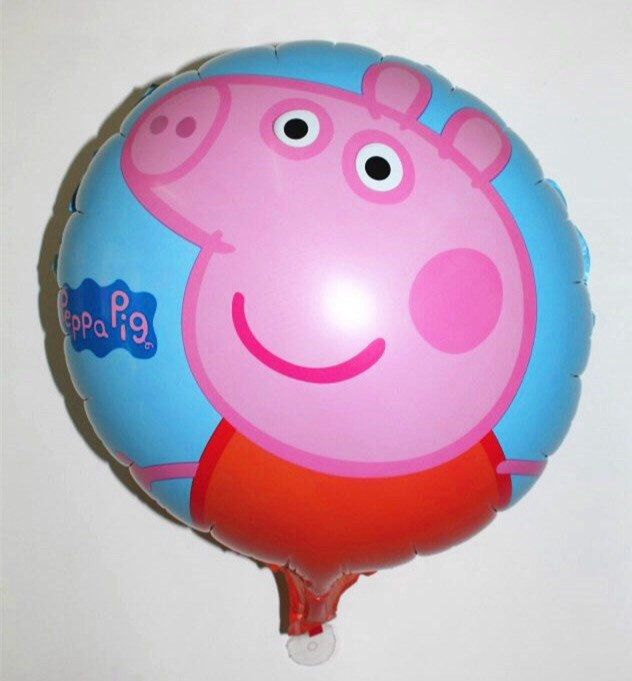 2 Peppa Pig Party Balloons, peppa pig birthday peppapig party balloons peppa pig invitation peppapig decoration peppapig by ChainsJewelry on Etsy https://www.etsy.com/listing/235120584/2-peppa-pig-party-balloons-peppa-pig