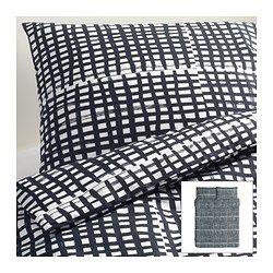 BJÖRNLOKA RUTA Duvet cover and pillowcase(s) - Full/Queen (Double/Queen) - IKEA