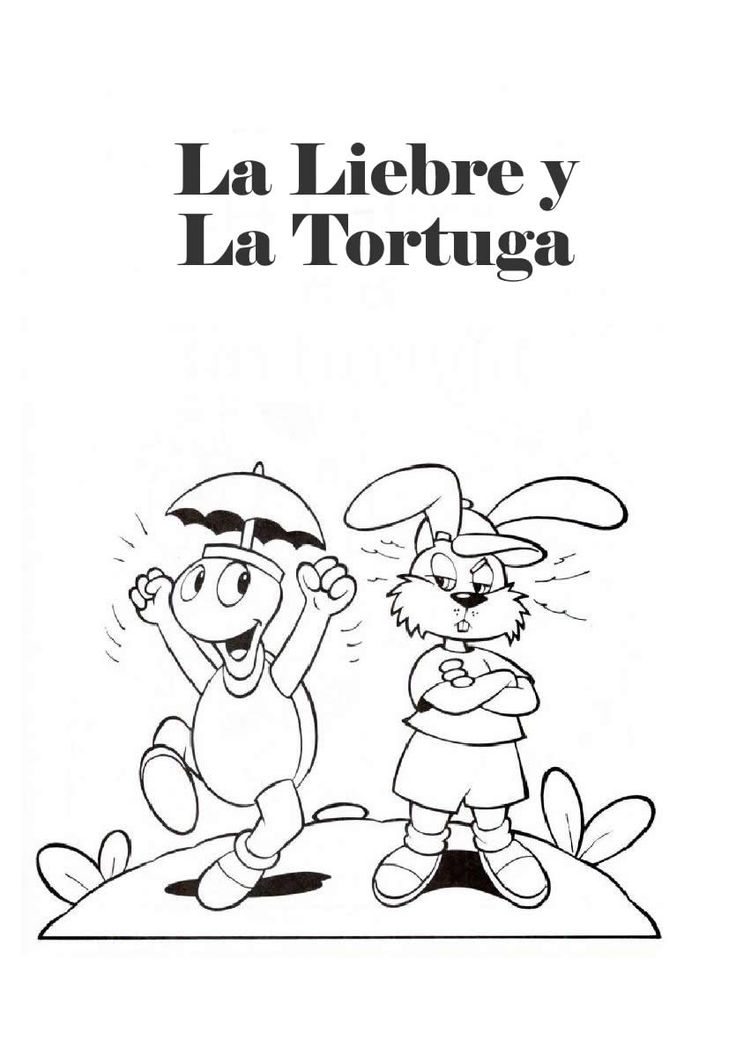 La Liebre Y La Tortuga Liebre Dibujos De Liebres Tortuga Para Colorear