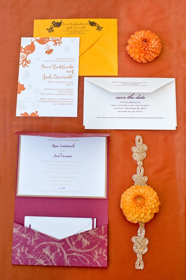 indian wedding invitations california%0A Bold Red  Gold and Ivory Sri Lankan Wedding at the Church Estate in Malibu