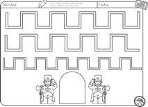 schrijfpatroon voor kleuters, free printable