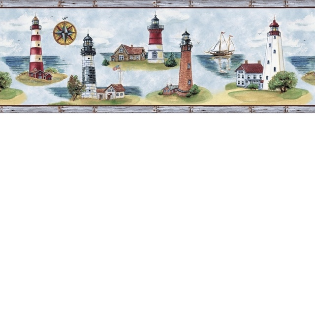 Best Wallpaper And Borders Images On Pinterest Wallpaper - Discontinued lighthouse border