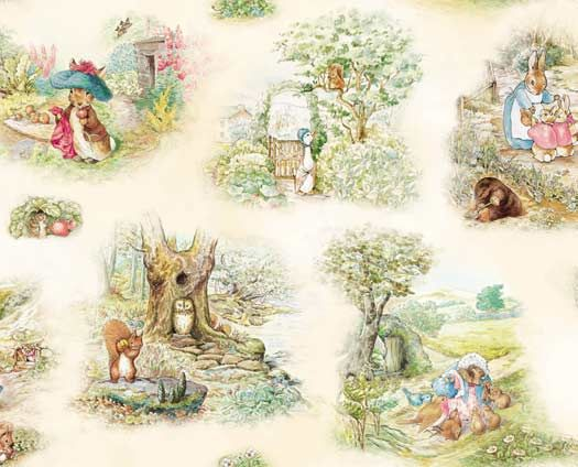 Beatrix Potter fabric $8.95 yd.  So sweet.