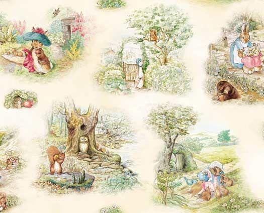 Beatrix Potter fabric $8.95 yd.  So sweet.