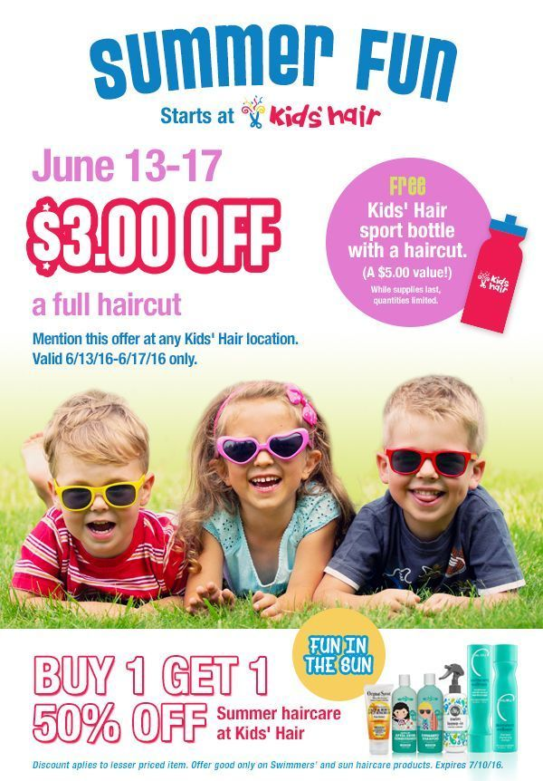 Kids haircut coupons