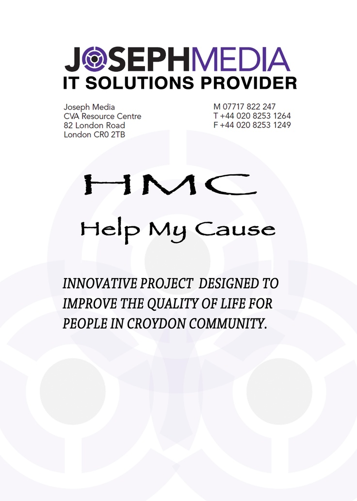 HMC,is a well-organised program,its main goal to fulfill,is to improve the quality of life in croydon community,by looking after its local residents and trying to meet their needs,on its unique way.Helping people in croydon,seems one of our priorities,that we hardly struggle to achieve,in order  to offer a bright future for everyone!!