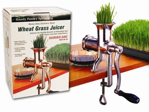 Amazon.com: Handy Pantry HJ Hurricane Stainless Steel Manual Wheatgrass Juicer: Hand Juicers: Kitchen & Dining