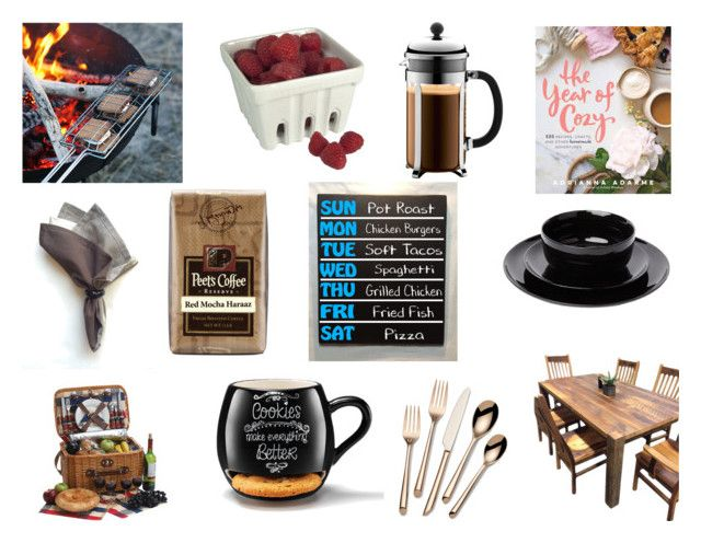 """Menu Plan Love"" by gothicvamperstein on Polyvore featuring interior, interiors, interior design, home, home decor, interior decorating, Bodum, DutchCrafters, Towle and Avon"