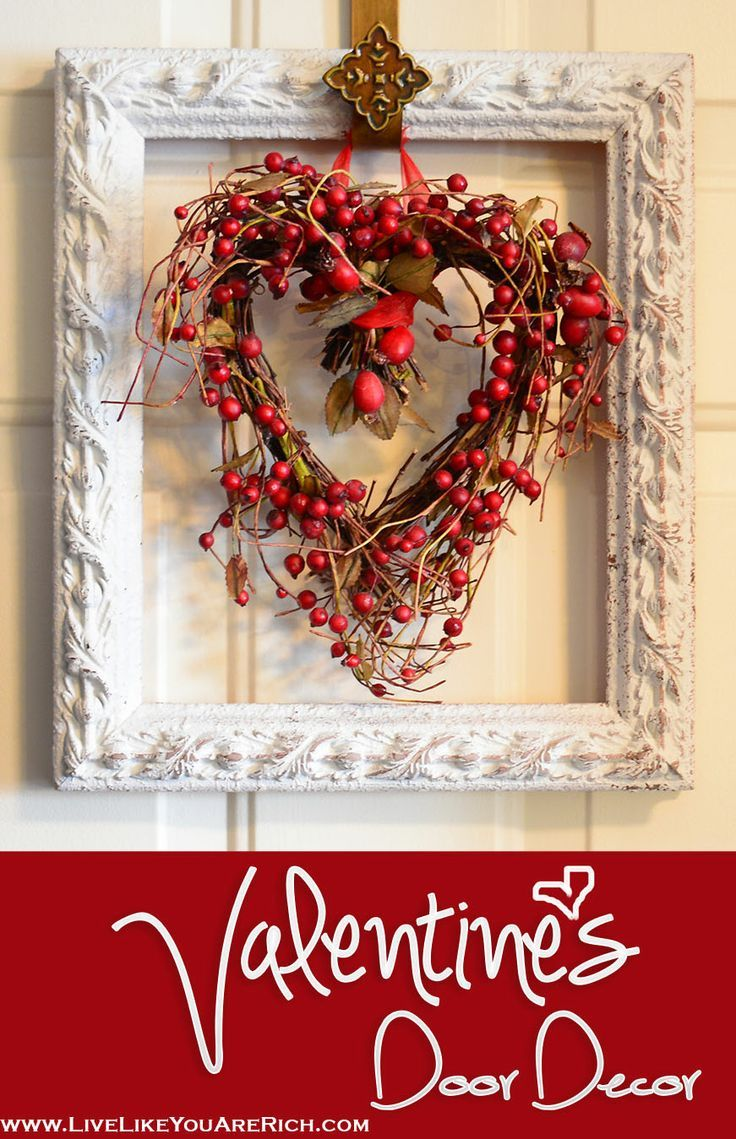 Valentine's Door Decor. This is very easy to make.