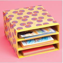 DIY – Cereal Box Storage I love this idea! Why not make a cute project and organize some clutter in your home! You can use these for your kid's homework, bills, or, even your printable coupons! All you need are empty cereal boxes, scissors, packing tape, wrapping paper (or construction paper) and colored duct tape! This is even a great project for the kids!
