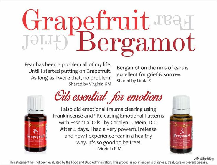Grapefruit For Fear And Bergamot On Rims Of Ears For Grief