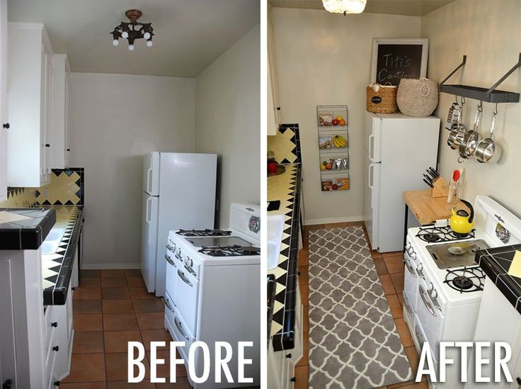 before and after tess apartment galley kitchen - Galley Apartment 2015