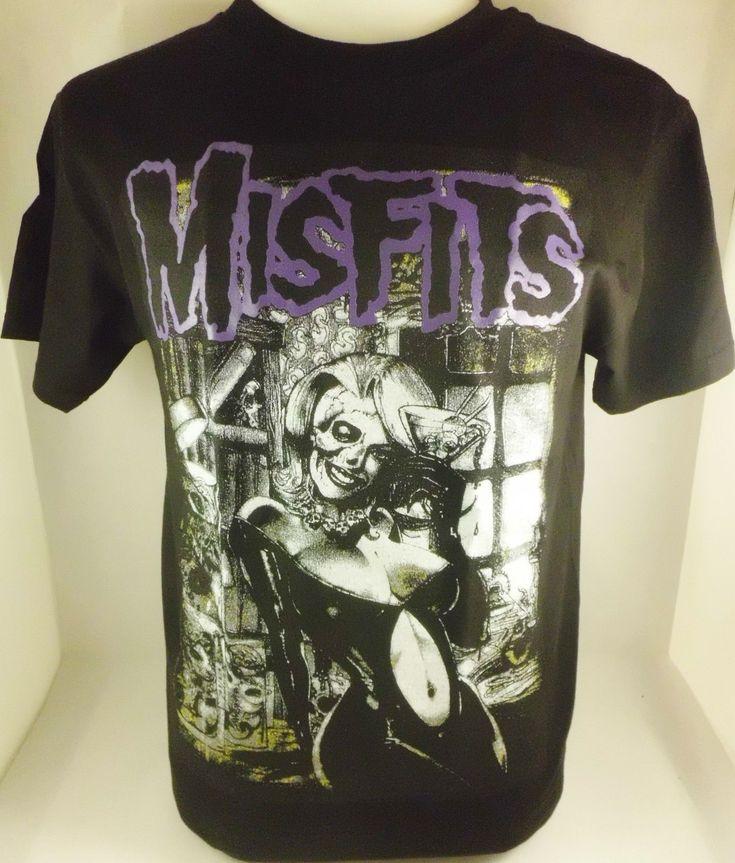 Blk Purp Misfits Lady Danzig Punk Rockabilly Men's T-Shirt