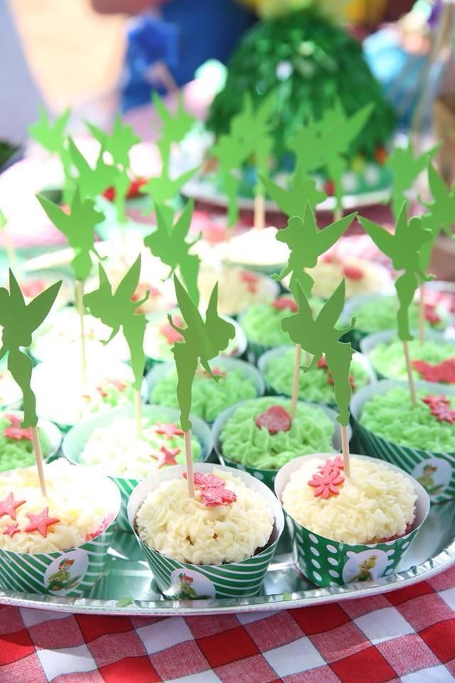 Tinkerbell Cupcake Toppers made by Such Fun. www.suchfun.co.za