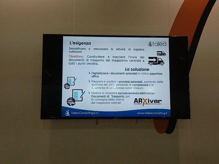 @smaunotes @taleaconsul obiettivo unieuro: gestire in formato elettronico #ddt dalla sede centrale ai punti vendita