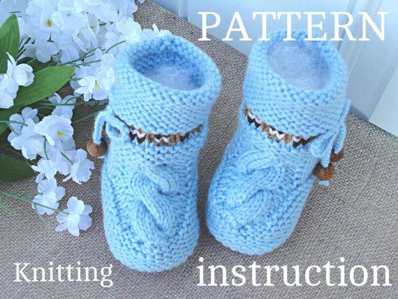 P A T T E R N Knitting Baby Set Shoes Amp Hat Pattern